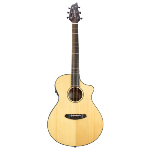 Breedlove Discovery Concert CE Acoustic Electric Guitar with Gig Bag, Natural
