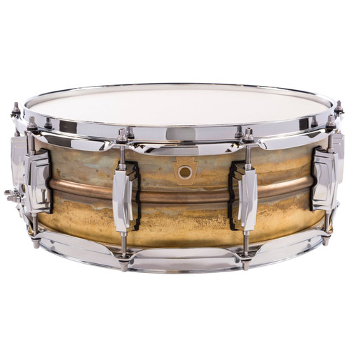 """Ludwig LB454R Raw Brass Phonic 5"""" x 14"""" Snare Drum with Imperial Lugs (LB454R)"""