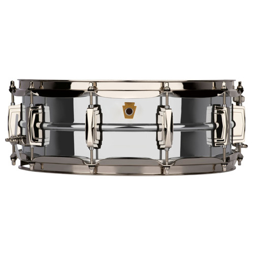 """Ludwig LB400BN Super Ludwig 5""""x 14"""" Chrome Over Brass Snare Drum, Nickel Hardware"""