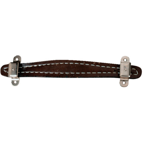 Fender Pure Vintage Stitched Leather Amplifier Handle, Brown, 2-Screw Mount