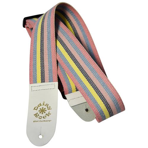 Daisy Rock DRS02 Pastel Rainbow Striped Cotton Guitar Strap
