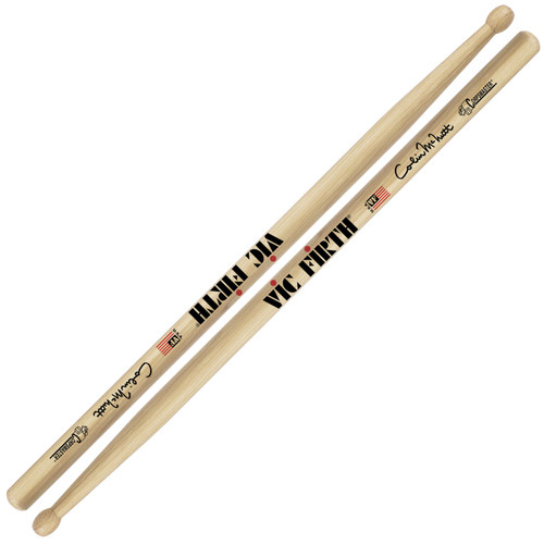 Vic Firth SCM Colin McNutt Corpsmaster Signature Snare Drumsticks, Hickory Oval Tip