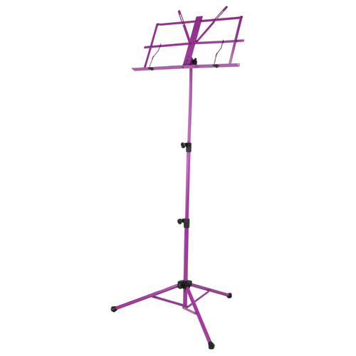 Strukture SMS1X-PP Deluxe 3-Part Folding Music Stand with Bag, Purple