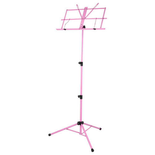 Strukture SMS1X-PK Deluxe 3-Part Folding Music Stand with Bag, Pink