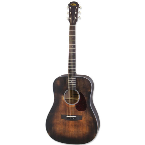 Aria 111DP Delta Player Dreadnought Acoustic Guitar, Muddy Brown