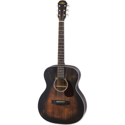 Aria 101DP Delta Player OM Body Acoustic Guitar, Muddy Brown (ARIA-101DP)