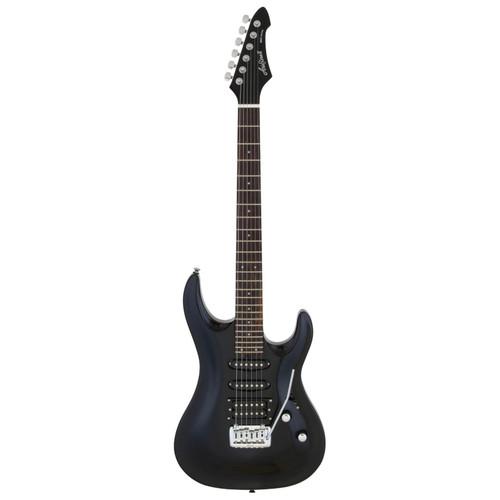 Aria Pro II MAC-STD Solid Body Double Cutaway Electric Guitar, Metallic Black