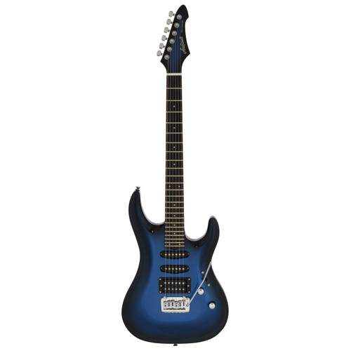 Aria Pro II MAC-STD Solid Body Double Cutaway Electric Guitar, Metallic Blue Shade