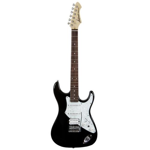 Aria Pro II 714-STD Solid Body Double Cutaway Electric Guitar, Black