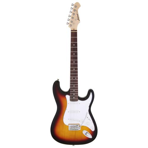 Aria Pro II STG-003 Solid Body Double Cutaway Electric Guitar, 3 Tone Sunburst