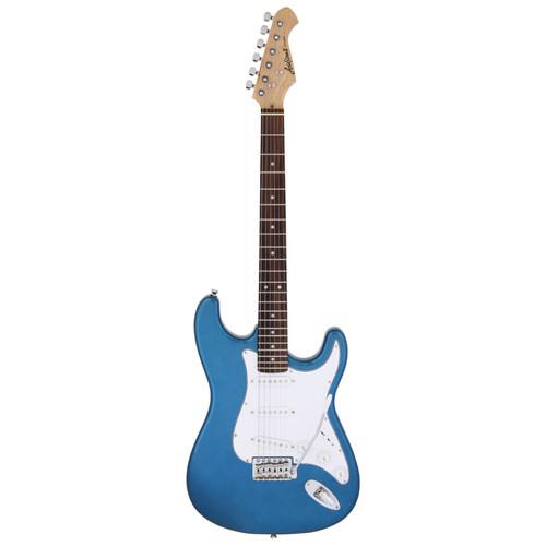 Aria Pro II STG-003 Solid Body Double Cutaway Electric Guitar, Metallic Blue