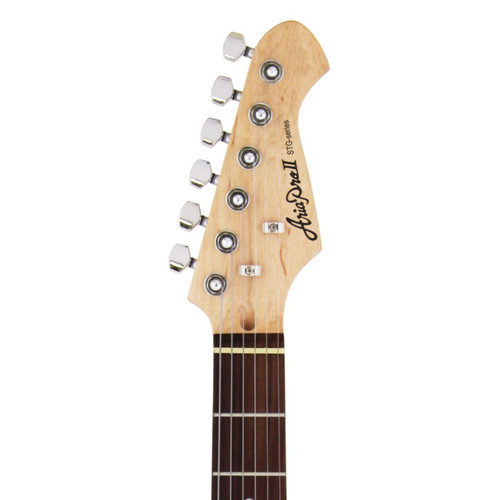 Aria Pro II STG-003 Solid Body Double Cutaway Electric Guitar, White