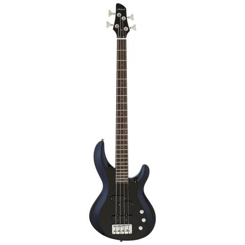 Aria Pro II IGB-STD Carved Top 4-String Electric Bass Guitar, Metallic Black