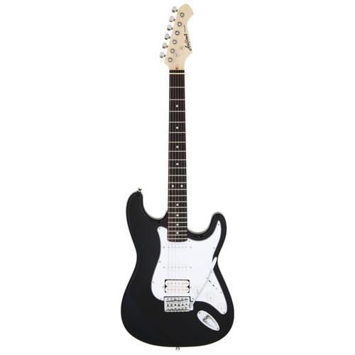 Aria Pro II STG-004 Solid Body Double Cutaway Electric Guitar, Black