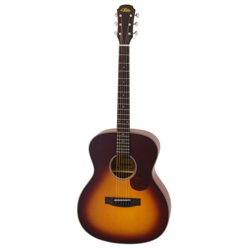 Aria 101 Vintage 100 Series Orchestra Model Acoustic Guitar, Matte Tobacco Burst