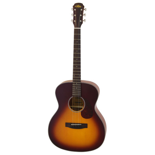 Aria 101 Vintage 100 Series Orchestra Model Acoustic Guitar, Matte Tobacco Burst