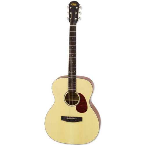 Aria 101 Vintage 100 Series Orchestra Model Acoustic Guitar, Matte Natural