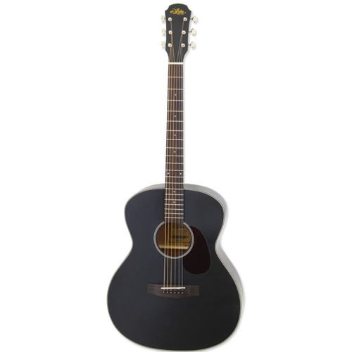 Aria 101 Vintage 100 Series Orchestra Model Acoustic Guitar, Matte Black