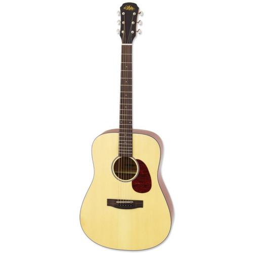 Aria 111 Vintage 100 Series Dreadnought Acoustic Guitar, Matte Natural