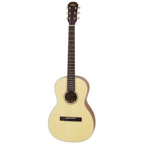 Aria 131 Vintage 100 Series Parlor Acoustic Guitar, Matte Natural