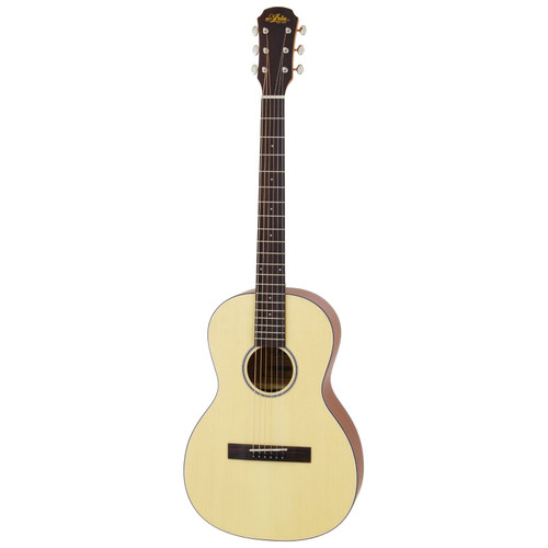 Aria 131 Vintage 100 Series Parlor Acoustic Guitar, Matte Natural