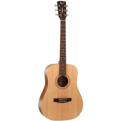 Cort Earth Series EARTH50 Easy Play 7/8 Size Dreadnought Acoustic Guitar, Open Pore