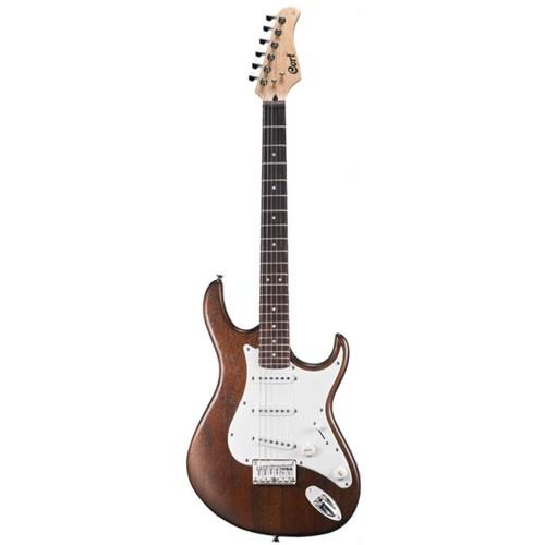 Cort G Series G100OPW Double Cutaway Electric Guitar, Open Pore Walnut