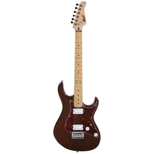 Cort G Series G100HH Double Cutaway Electric Guitar, Open Pore Walnut