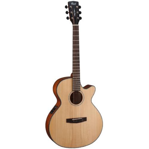 Cort SFX-ME Slim Body Acoustic Electric Guitar, Open Pore