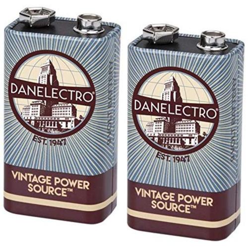 Danelectro 9-Volt Vintage Style Batteries, 2-Pack
