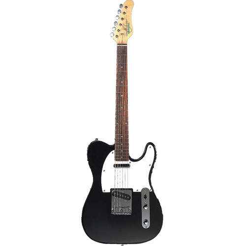 Oscar Schmidt OS-LT-BK Solid Body Single Cut Electric Guitar, Black