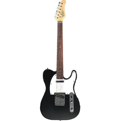 Oscar Schmidt OS-LT-BK Solid Body Single Cut Electric Guitar, Black