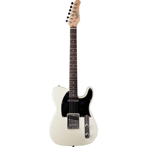Oscar Schmidt OS-LT-IV Solid Body Single Cut Electric Guitar, Ivory