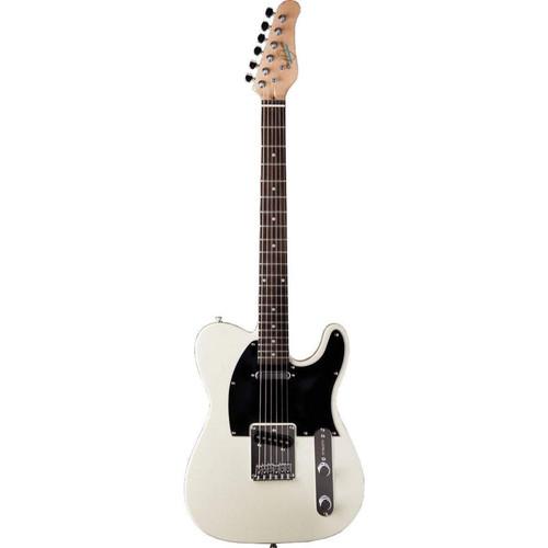 Oscar Schmidt OS-LT-IV Solid Body Single Cut Electric Guitar, Ivory
