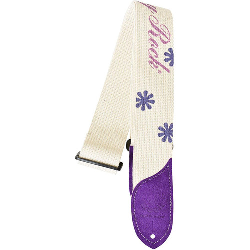 Daisy Rock DRS06 Purple Logo Cotton Guitar Strap