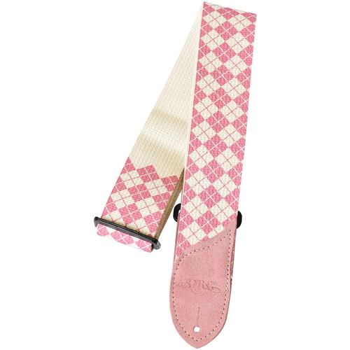 Daisy Rock DRS11 Pink Argyle Cotton Guitar Strap