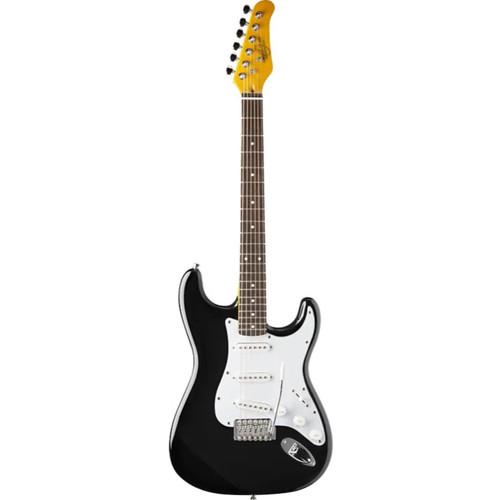 Oscar Schmidt OS30 Solid Body 3/4 Size Electric Guitar, Black