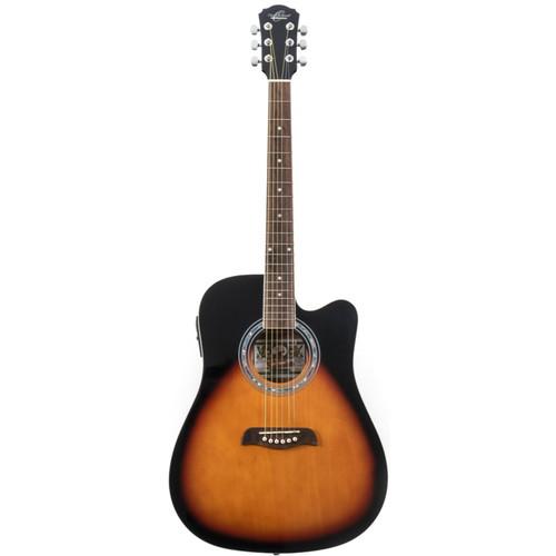 Oscar Schmidt OD45CEVSB Dreadnought Cutaway Acoustic Electric Guitar, Vintage Sunburst