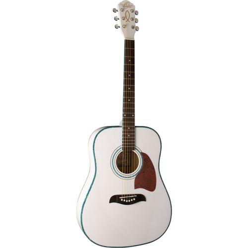 Oscar Schmidt OG2WH Dreadnought Acoustic Guitar, White
