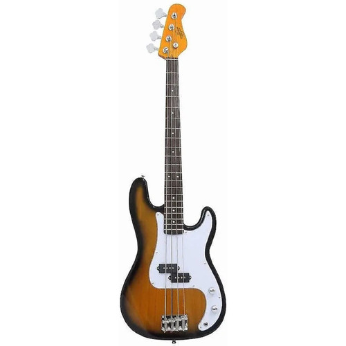 Oscar Schmidt OSB-400C 4-String Electric Bass Guitar, Tobacco Sunburst (OSB-400C-TS)