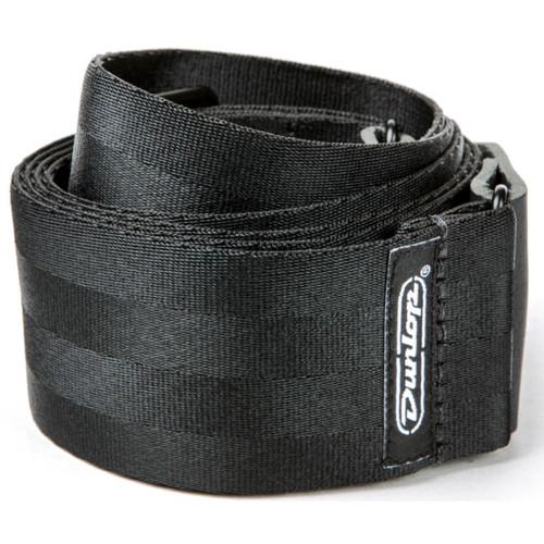 "Dunlop 2"" Deluxe Seatbelt Guitar Strap, Black"