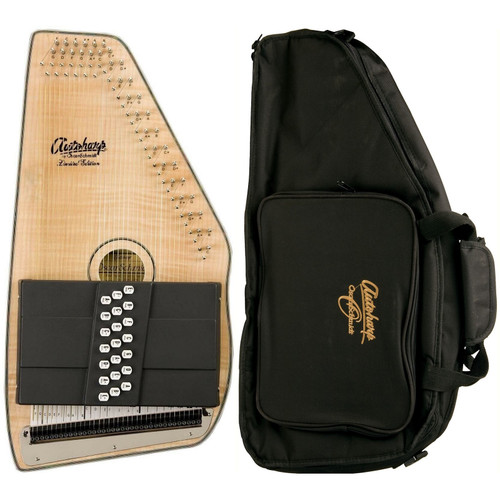 Oscar Schmidt OS11021FNE 21-Chord Acoustic Electric Autoharp with Gig Bag, Natural (OS11021FNE-AC445)