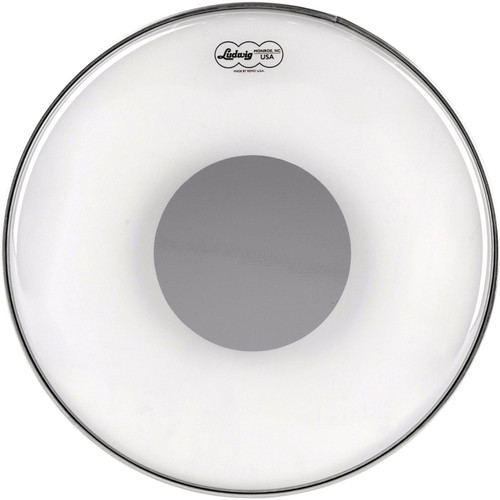 """Ludwig 16"""" Clear Ambassador Silver Dot Snare Drum Batter Head by Remo, LW6116R"""