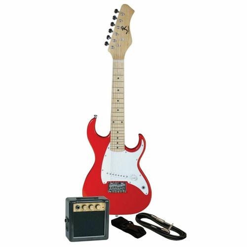 J. Reynolds Kids 1/2 Size Mini Electric Guitar Prelude Package, Rockin' Red (JRPKSTRD)