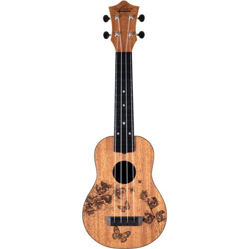 Oscar Schmidt Nature Series Butterfly 4-String Soprano Ukulele (OUNBFLY)