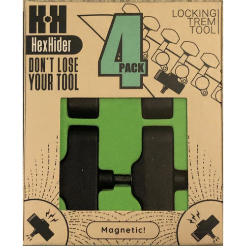 HexHider 3mm Magnetic Allen Wrench for Floyd Rose Tremolo Systems, 4-Pack (HH3B4P)