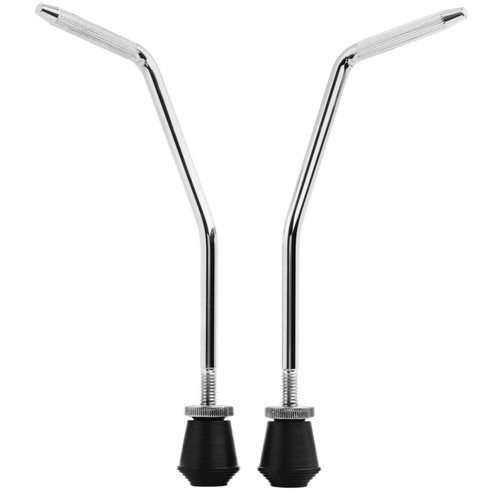 Ahead AHBDS Vintage Style 10mm Bass Drum Spurs with Adjustable Rubber Feet (AHBDS)