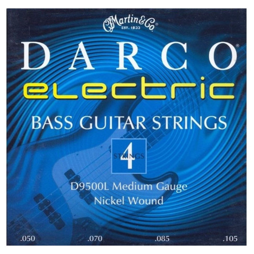 Martin D9500L Darco Long Scale Nickel Wound 4-String Electric Bass Guitar Strings, Medium 50-10.5 (D9500L)