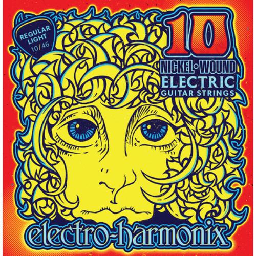 Electro-Harmonix NIC10 Nickel Wound Electric Guitar Strings, Regular Light 10-46 (NIC10)