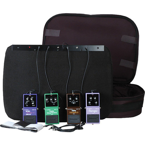 Johnson FX-BRD Powered Pedal Board with Bag, Power Supply and Chain Cables